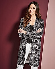 Spot Print Edge-to-Edge Cardigan