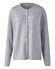 Grey Marl Crew Neck Cardigan