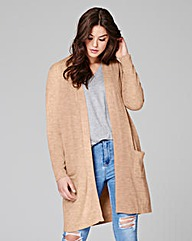 Stone Marl Edge-to-Edge Cardigan