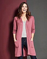 Plum Marl Edge-to-Edge Cardigan