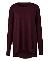 Black Cherry Boxy Jumper