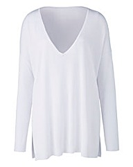 White V Neck Jumper