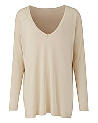 Oatmeal V Neck Jumper