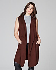 Nutmeg Sleeveless Waterfall Cardigan