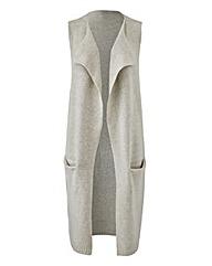 Grey Marl Boucle Sleeveless Waistcoat