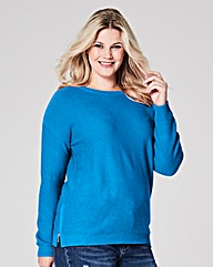 Winter Turq Jumper with side zips