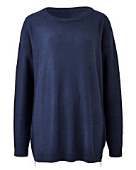 Slate Blue Jumper with side zips