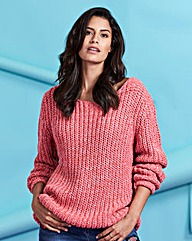 Chunky Fishermans Rib Jumper