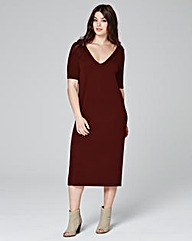 Nutmeg V Neck Dress