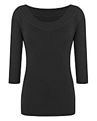 Black Bardot Jumper