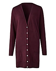 Black Cherry Boyfriend Cardigan