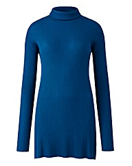 Teal Roll Neck Tunic