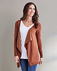 Tan Waterfall Cardigan
