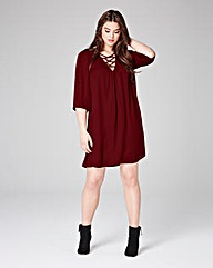 Lovedrobe Front Laced Swing Dress