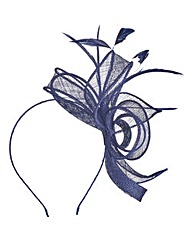 Navy Headband-Style Fascinator