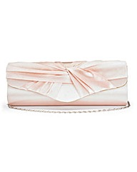 Champagne Satin Roll-Top Occasion Bag