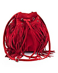 Berry Fringe Duffle Bag