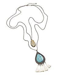 Turquoise Stone Layered Necklace