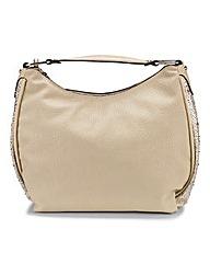 Cushion Walk Shoulder Bag with Diamantes