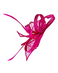 Pink Clip In Fascinator