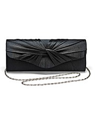 Black Satin Roll Top Occasion Bag
