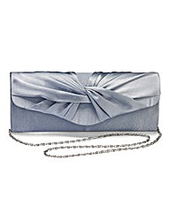 Grey Satin Roll Top Occasion Bag
