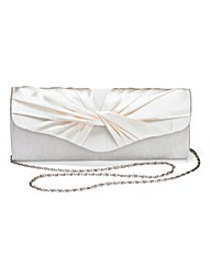 Ivory Satin Roll Top Occasion Bag