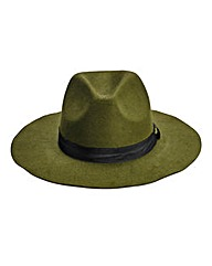 Khaki Fedora Hat