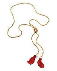 Long Fringing Necklace