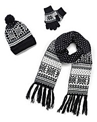 Fairisle Hat, Scarf and Gloves Set