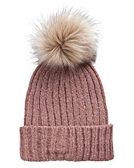 Fluffy Pom Pom Bobble Hat