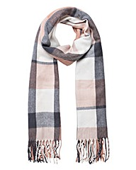 Pieces Pink Check Scarf
