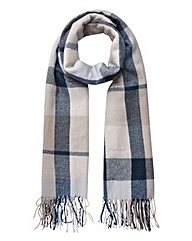 Pieces Blue Check Scarf