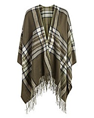 Pieces Khaki Check Blanket Wrap