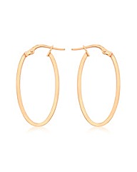 9ct Red Gold Creole Earring
