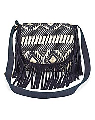 Aztec Across Body Bag with Fringing