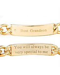 Gold Plated Best Grandson Bracelet
