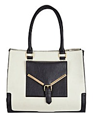 Structured Tote Bag with Front Pocket