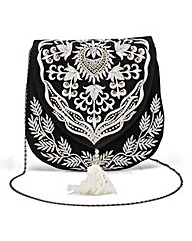 Embroidered Satchel Bag