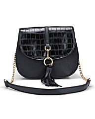 Saddle Bag with Chain Strap
