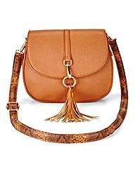 Saddle Bag With Snake Strap