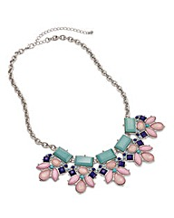 Multi Jewel Statement Necklace
