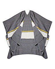 Grey Stripe Blanket Wrap