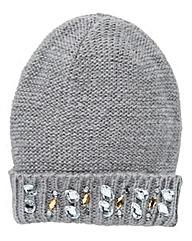 Embellished Beanie Hat