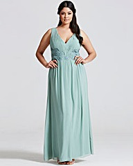 Little Mistress Sage Lace Maxi Dress