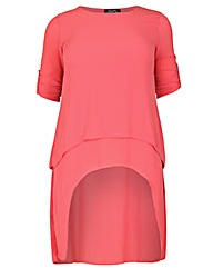 Feverfish Crepe Layered Tunic