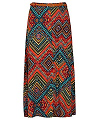 Samya Long Aztec Print Skirt