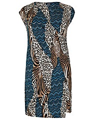 Samya Abstract Animal Print Dress