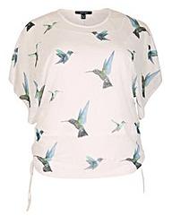 Samya Oversized Butterfly Print Top