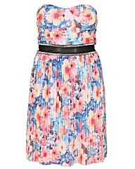 Sienna Couture Strapless Floral Dress